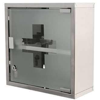 Stainless Steel Medicine Cabinet Finished in Polished Chrome Gedy J035-13