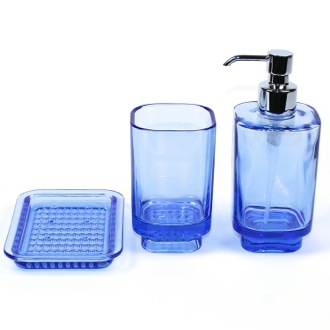 Bathroom Accessory Set Joy Glass Accessory Set Gedy JOY200