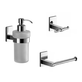 3 Pc. Wall Mounted Chrome Accessory Set Gedy MNE226-13