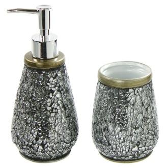 gray bathroom accessories set. Bathroom Accessory Set 2 Piece Ceramic Gedy MY581 73 Sets  TheBathOutlet com