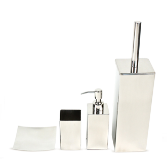 Bathroom Accessory Set Nemesia Polished Chrome Bathroom Accessory Set NE100 Gedy NE100