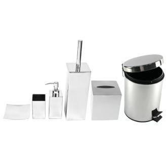 Chrome Free Standing Bathroom Accessory Set Gedy NE1011