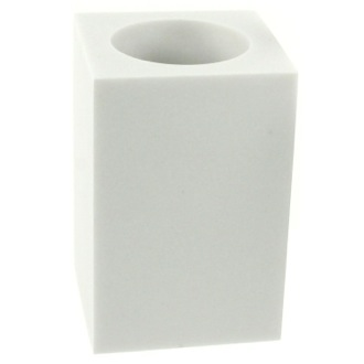 Toothbrush Holder Square Free Standing Toothbrush Tumbler in White Finish OL98-02 Gedy OL98-02