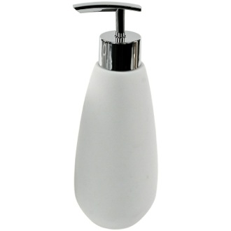Soap Dispenser Made From Thermoplastic Resins and Stone in White Finish Gedy OP80-02
