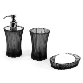 Bathroom Accessory Set Plisse Glass Accessory Set PL200 Gedy PL200