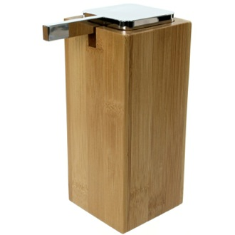 Large Wood Wood Soap Dispenser with Chrome Pump Gedy PO80-35