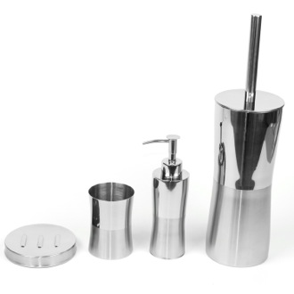 Bathroom Accessory Set Primula Round Stainless Steel Bathroom Accessory Set PR100 Gedy PR100