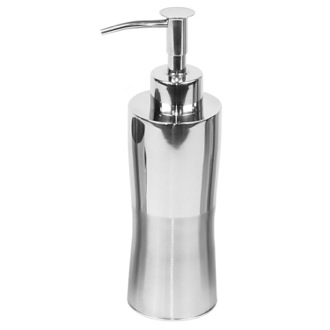 Soap Dispenser Countertop Stainless Steel Soap Dispenser with Chrome Finish Gedy PR81-21