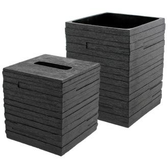 Bathroom Accessory Set Quadrotto Black 2 Piece Bathroom Accessory Set Gedy  QU1011 14