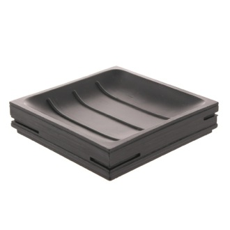 Soap Dish Square Black Soap Holder QU11-14 Gedy QU11-14