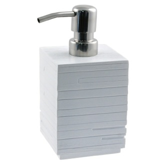 Square White Soap Dispenser Made From Thermoplastic Resin Gedy QU81-02