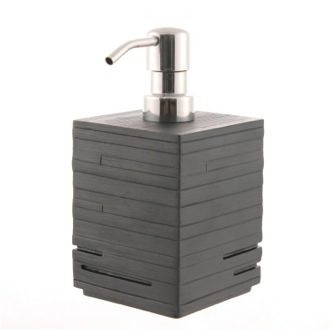 Square Black Countertop Soap Dispenser Gedy QU81-14