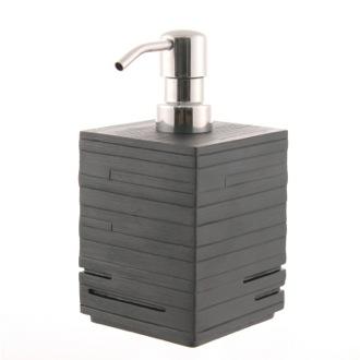 Soap Dispenser Square Black Countertop Soap Dispenser Gedy Qu81 14
