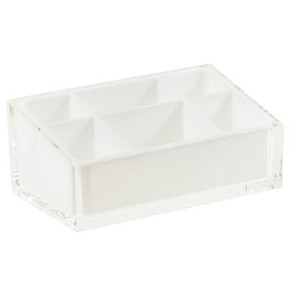 Make-up Tray Make-up Tray Made of Thermoplastic Resins in White Finish RA00-02 Gedy RA00-02