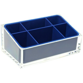 Make-up Tray Make-up Tray Made of Thermoplastic Resins in Blue Finish Gedy RA00-05