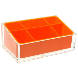 Make-up Tray Make-up Tray Made of Thermoplastic Resins in Orange Finish RA00-67 Gedy RA00-67