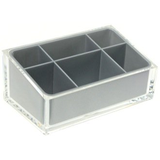 Make-up Tray Make-up Tray Made of Thermoplastic Resins in Silver Finish RA00-73 Gedy RA00-73