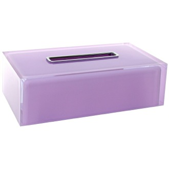 Tissue Box Cover Thermoplastic Resin Square Tissue Box Cover in Lilac Finish RA08-79 Gedy RA08-79