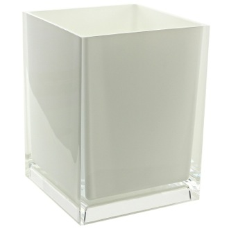 Free Standing Waste Basket With No Cover in White Finish Gedy RA09-02