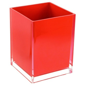 Waste Basket Free Standing Waste Basket With No Cover in Red Finish RA09-06 Gedy RA09-06