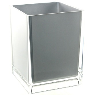 Free Standing Waste Basket With No Cover in Silver Finish Gedy RA09-73