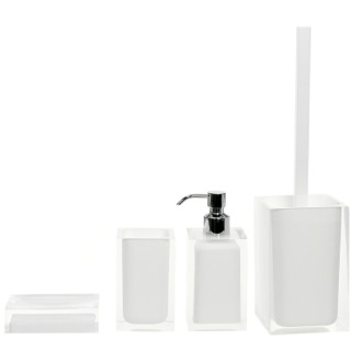 Bathroom Accessory Set White Accessory Set of Thermoplastic Resins Gedy RA100-02