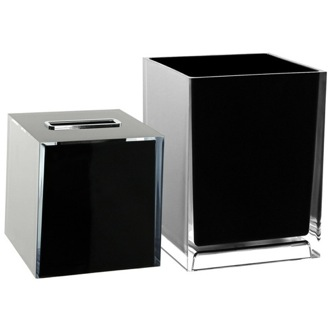 Bathroom Accessory Set 2 Piece Accessory Set In Black Gedy RA1011-14