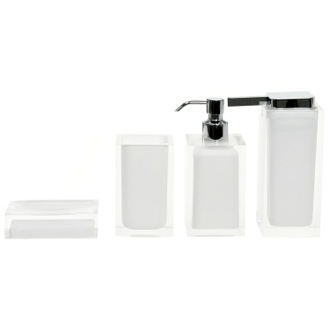Bathroom Accessory Set Rainbow White Accessory Set of Thermoplastic Resins Gedy RA200-02