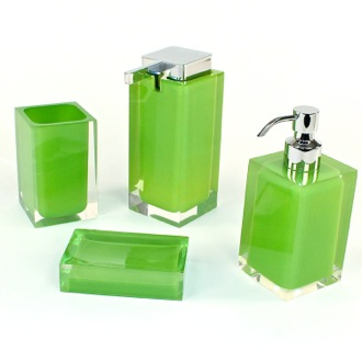 Green Accessory Set Crafted of Thermoplastic Resins Gedy RA200-04