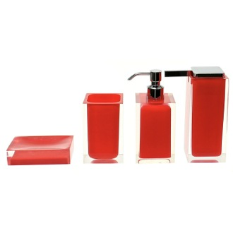 Red Accessory Set Crafted of Thermoplastic Resins Gedy RA200-06