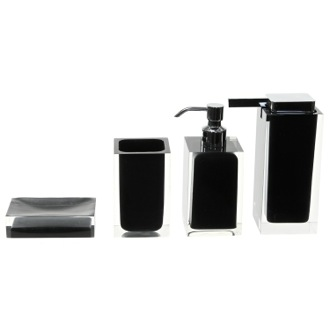 Bathroom Accessory Set Black Accessory Set of Thermoplastic Resins RA200-14 Gedy RA200-14