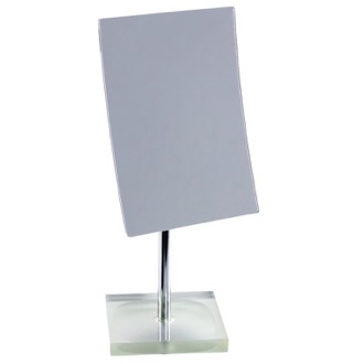 Makeup Mirror Square Magnifying Mirror with Silver Base Gedy RA2018-73
