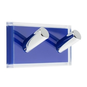 Bathroom Hook Light Blue Double Hook made of Thermoplastic Resins RA26-05 Gedy RA26-05