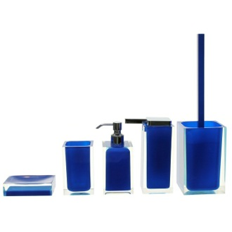 Bathroom Accessory Set Blue Rainbow Accessory Set of Thermoplastic Resins RA300-05 Gedy RA300-05