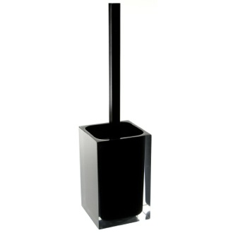 Black Stylish Square Toilet Brush Holder Gedy RA33-14