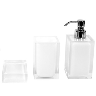 Bathroom Accessory Set White Accessory Set of Thermoplastic Resins RA500-02 Gedy RA500-02
