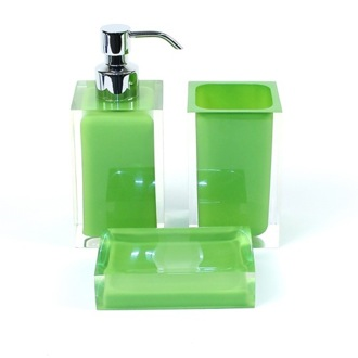 Green Accessory Set of Thermoplastic Resins with 3 Pieces Gedy RA500-04