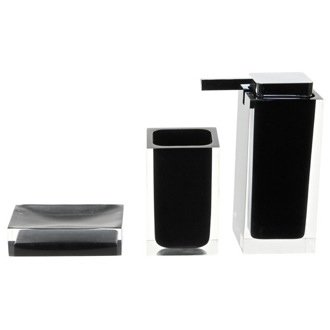 Bathroom Accessory Set Black 3 Pc. Accessory Set Made With Thermoplastic Resins RA580-14 Gedy RA580-14