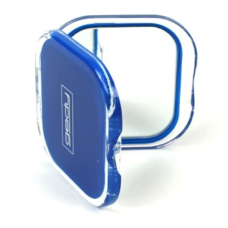 Hand Mirror Blue Square 2x Double Faced Hand Mirror RA60-05 Gedy RA60-05