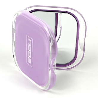 Hand Mirror Lilac Square 2x Double Faced Hand Mirror RA60-79 Gedy RA60-79