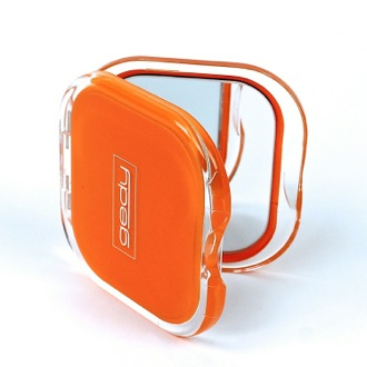 Hand Mirror Orange Square 2x Double Faced Hand Mirror RA60-67 Gedy RA60-67