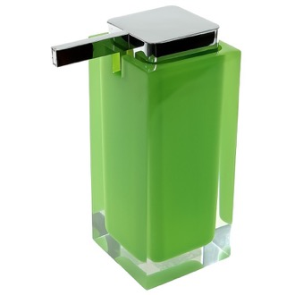 Gedy RA80-04 Square Acid Green Countertop Soap Dispenser