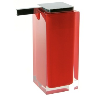 Soap Dispenser Square Red Countertop Soap Dispenser RA80-06 Gedy RA80-06