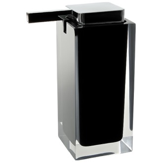Square Black Countertop Soap Dispenser Gedy RA80-14