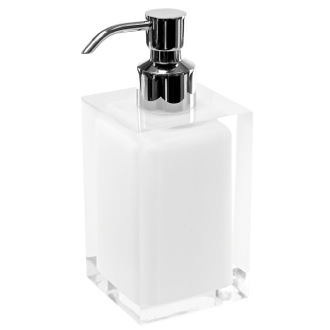 Soap Dispenser Square White Countertop Soap Dispenser Gedy RA81-02