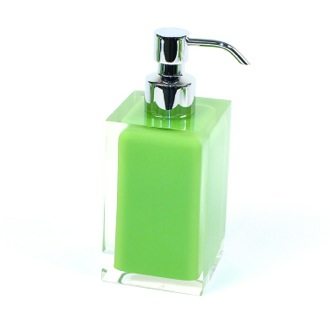 Square Acid Green Countertop Soap Dispenser Gedy RA81-04