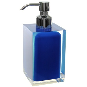Square Blue Countertop Soap Dispenser Gedy RA81-05