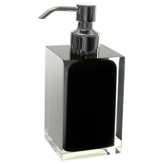 Soap Dispenser Square Black Countertop Soap Dispenser RA81-14 Gedy RA81-14