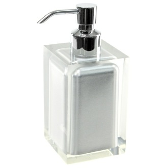 Soap Dispenser Square Silver Countertop Soap Dispenser Gedy RA81-73