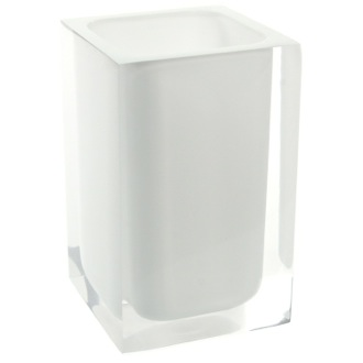 Toothbrush Holder Square Toothbrush Holder in Assorted Colors Gedy RA98
